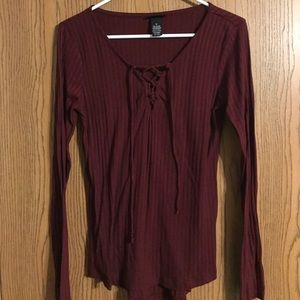 Rue21 front lace up long sleeve